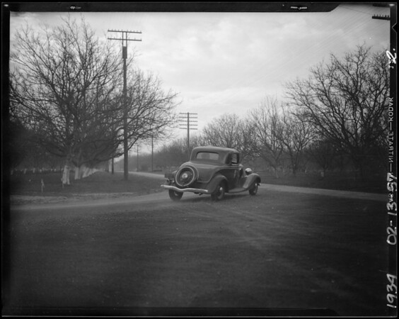 Elmore's Ford coupe, Southern California, 1934