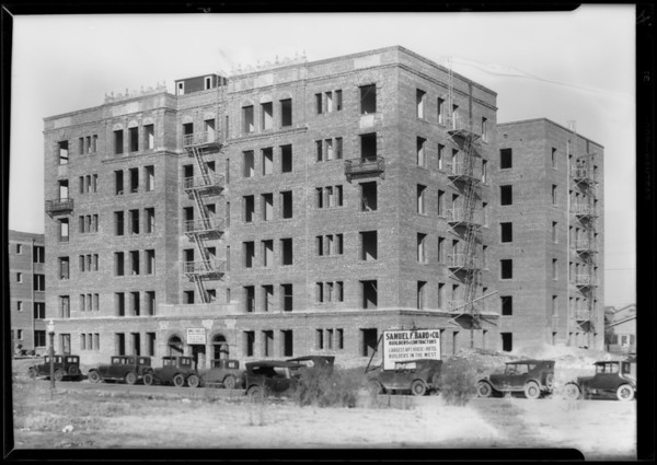 Apartments in Pellisier tract, Southern California, 1928