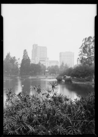Westlake Park [MacArthur Park], Los Angeles, CA, 1926