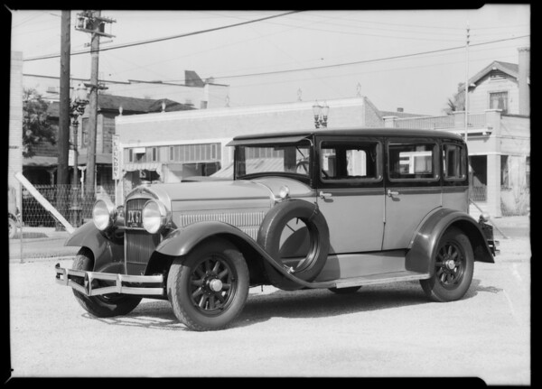Hudson sedan 1929, Southern California, 1932