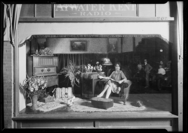 Atwater Kent Radio window, Southern California, 1927