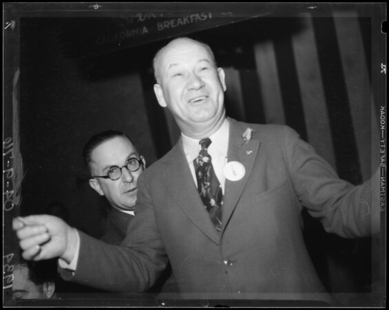 J. W. Grant and Judge Clement Nye, Southern California, 1934