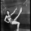 """Manya"" using Racine inner tube for exercise, Bershon Tire, Southern California, 1928"