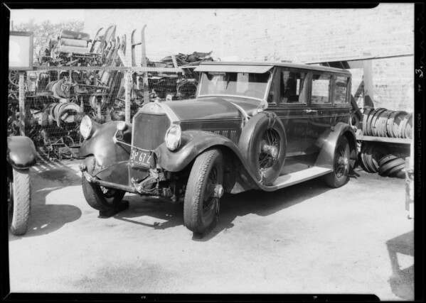 Pierce Arrow, File A11326, owner Sander Dickey, Southern California, 1933