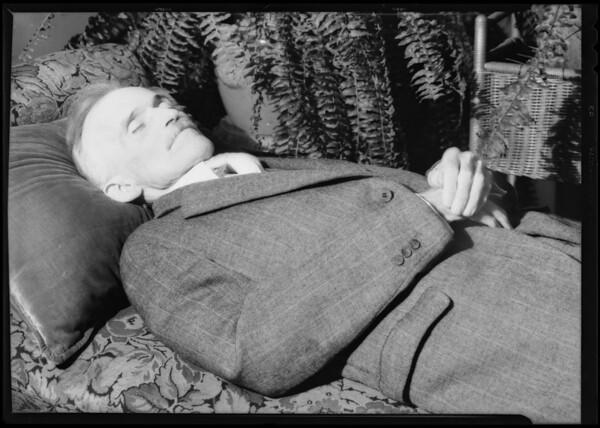 Photo of body, Southern California, 1931