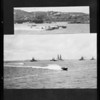 Battleships race in harbor, Southern California, 1927