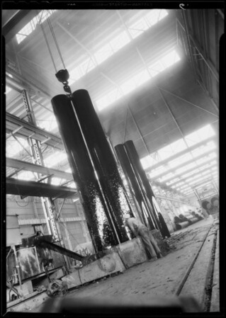 Pipe for aqueduct, Consolidated Steel Company, Southern California, 1933