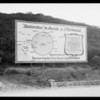 Real estate--La Cañada Flintridge sign, Southern California, 1926