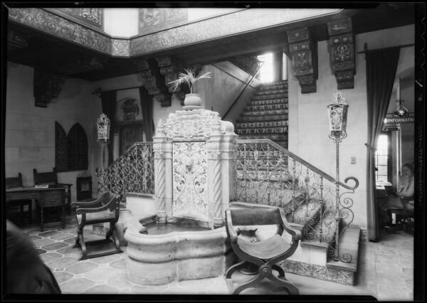 Stairway in Medical Arts building, 4757 Hollywood Boulevard, Los Angeles, CA, 1932