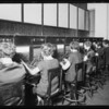 Telephone switchboard and operators, Broadway Department Store, Los Angeles, CA, 1925