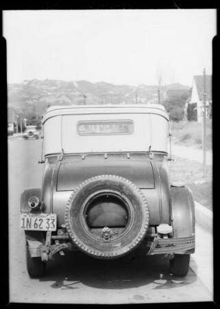Chrysler damage, Humphreys vs. Cohen, Southern California, 1934
