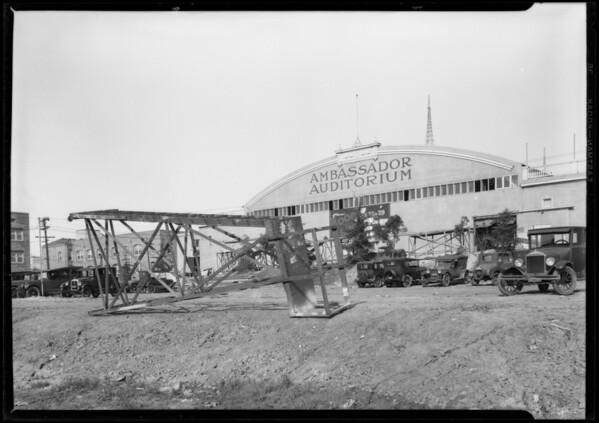 Backyard of Ambassador Auditorium, Southern California, 1927