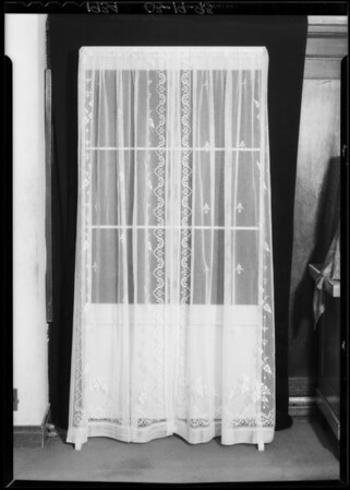 Window curtains, Southern California, 1934
