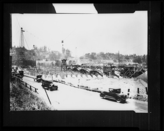 Hyperion viaduct, Glendale, CA, 1928
