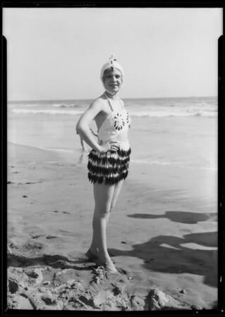 Hollywood Music Box girls at beach, Southern California, 1927