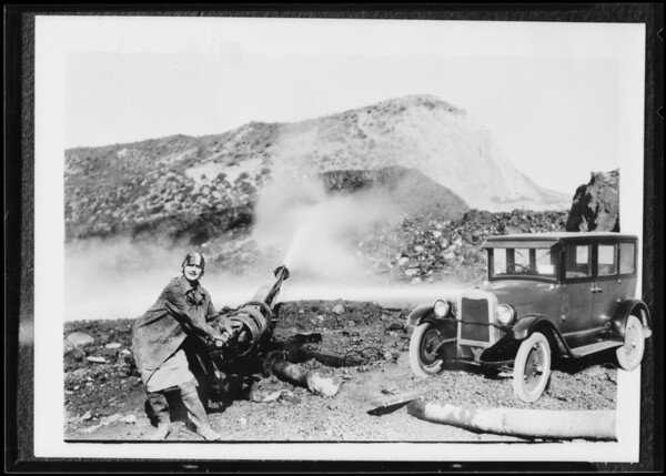 Construction--water gun, Southern California, 1926