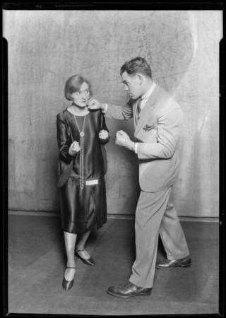 Kay Hammond & Paulino Uzcudun (fighter), Southern California, 1928.