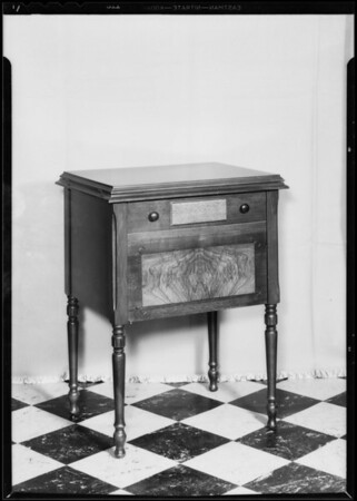 Sewing machine, Southern California, 1933
