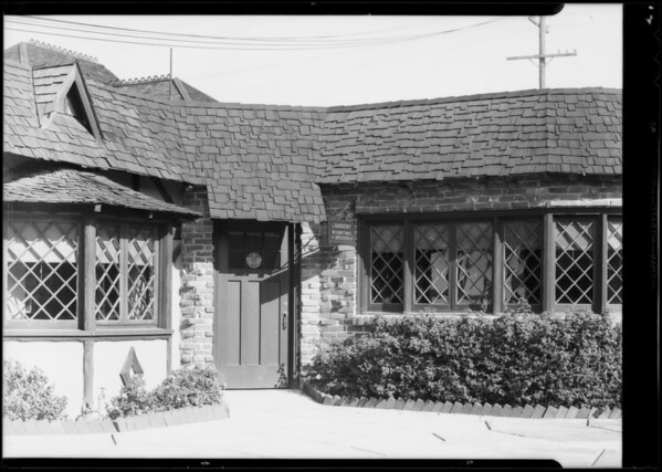 Entrance to laboratory, Southern California, 1934