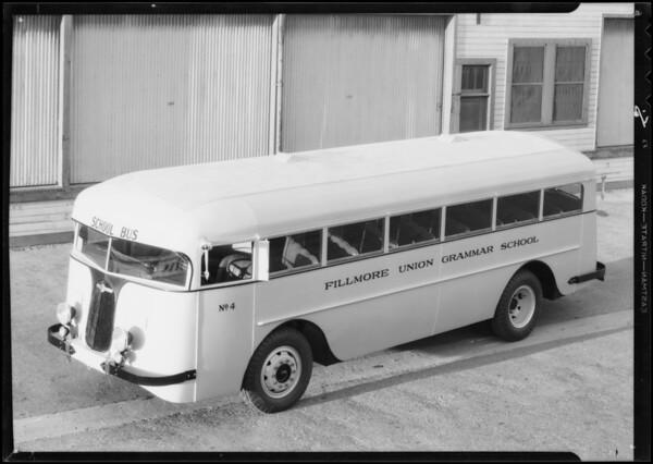Fillmore Union Grammar School bus, Southern California, 1934