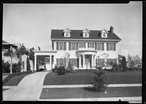 Home architecture and construction, Los Angeles, CA, 1926