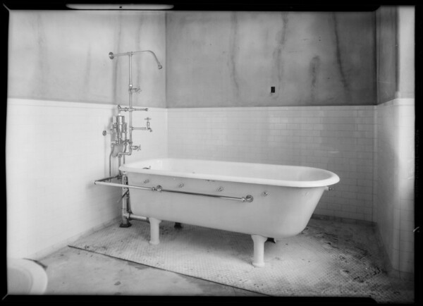 Plumbing installations, County Hospital, Los Angeles, CA, 1932