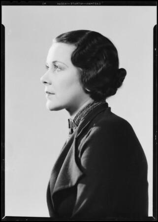 Madelin Jones, model, Southern California, 1933