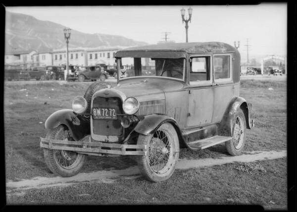 Ford belonging to Dan Brown, assured, Southern California, 1934