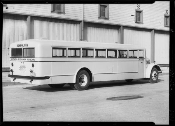 Huntington Beach High School bus, Southern California, 1934