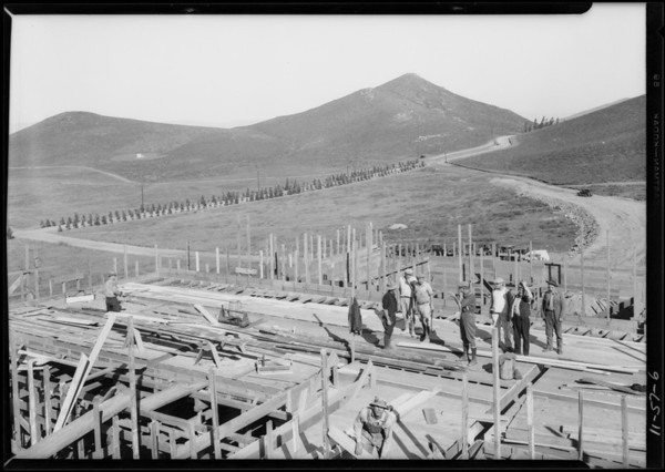 Steel, small building construction, Southern California, 1927