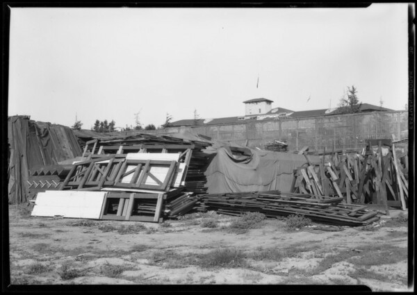 Backyard of Ambassador Auditorium, Southern California, 1927