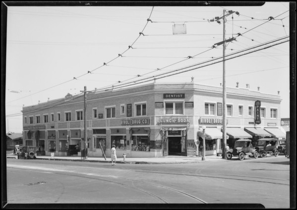 Store building, 54th & Los Angeles Mesa, Southern California, 1927
