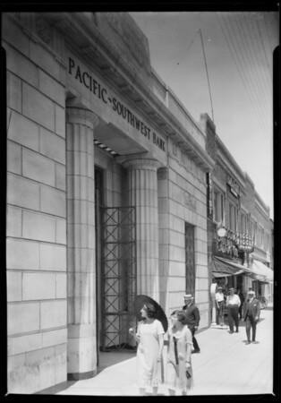 San Pedro & Vermont Branch, Pacific Southwest Bank, Southern California, 1925