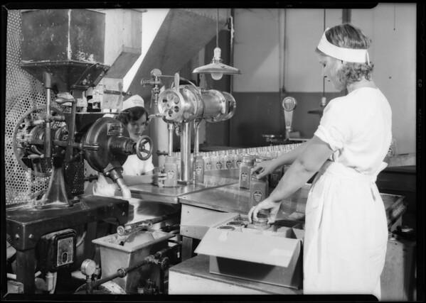 Peanut butter machine, Southern California, 1931