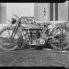 Motorcycle, Southern California, 1924