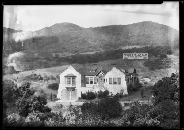 Real estate, Woodrow Wilson Park, 2859 Westbrook Avenue, Los Angeles, CA, 1927