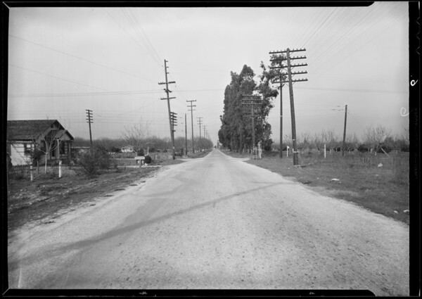 Intersection of Vineland Avenue and Merced Avenue, Baldwin Park, CA, 1932