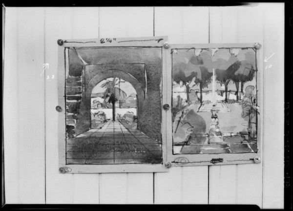 Sketches, Walter H. Leimert, Southern California, 1928