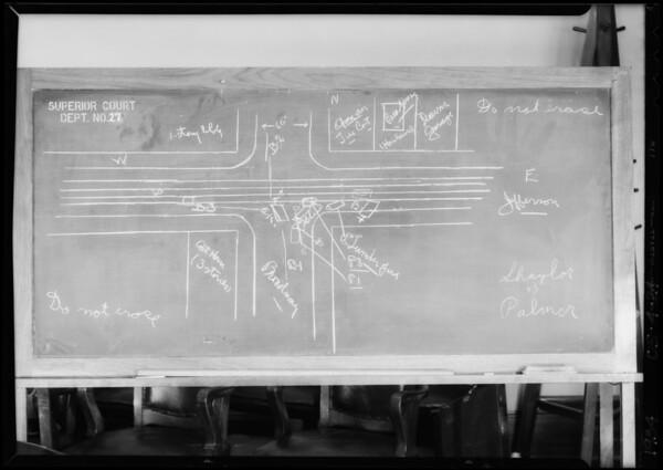 Blackboard, Shaylor vs. Palmer & Los Angeles county, Southern California, 1934
