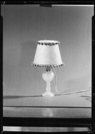 Lamps for Xmas, Bullock's, Southern California, 1933