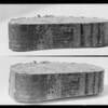 Close-ups of sawdust briquets, Southern California, 1926