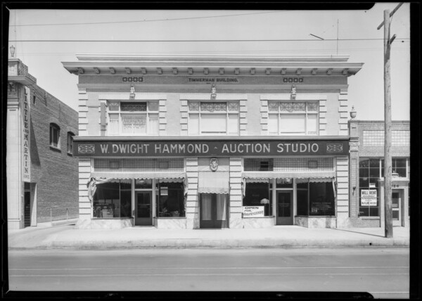 Hammond auction studio - 626 North Western Avenue, Los Angeles, CA, 1925