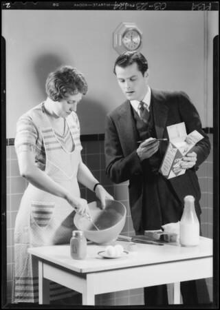 Investigator in kitchen, Southern Califiornia, 1934