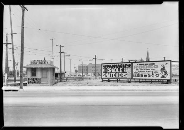 Sign boards, Southern California, 1927