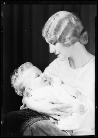Volta Boyer & baby, Southern California, 1932
