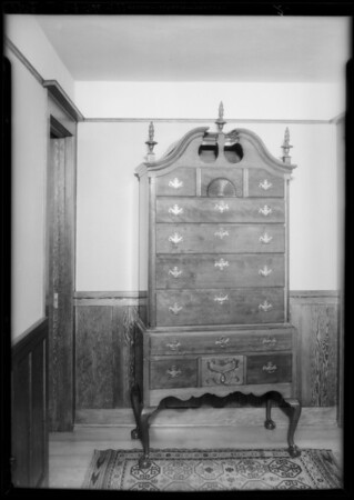 Two furniture pieces, Los Angeles, CA, 1934