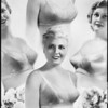 Photomontage of 4 brassieres, Southern California, 1936