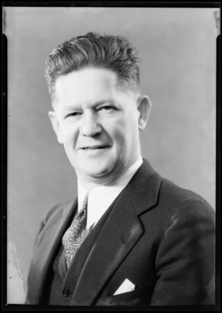 Portrait of Roy L. Wilson, Southern California, 1932