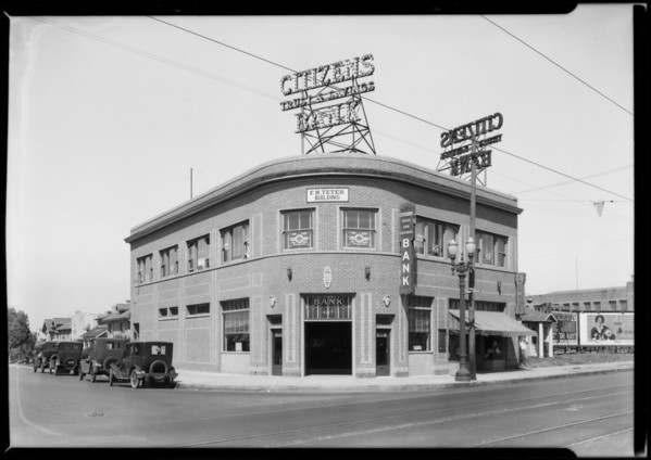 Citizens Trust and Savings Bank, Pico and Bronson branch, Los Angeles, CA, 1927