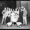 Group and cake at Shrine Auditorium, Los Angeles, CA, 1932